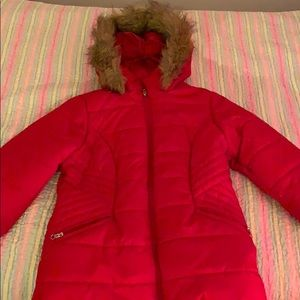 Red winter coat